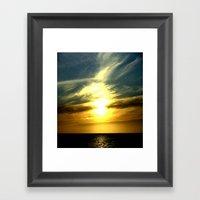 Sunrise over Bass Strait - Tasmania Framed Art Print