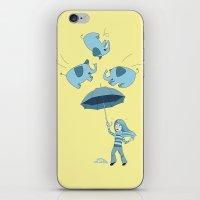 Braving the Elephants. iPhone & iPod Skin