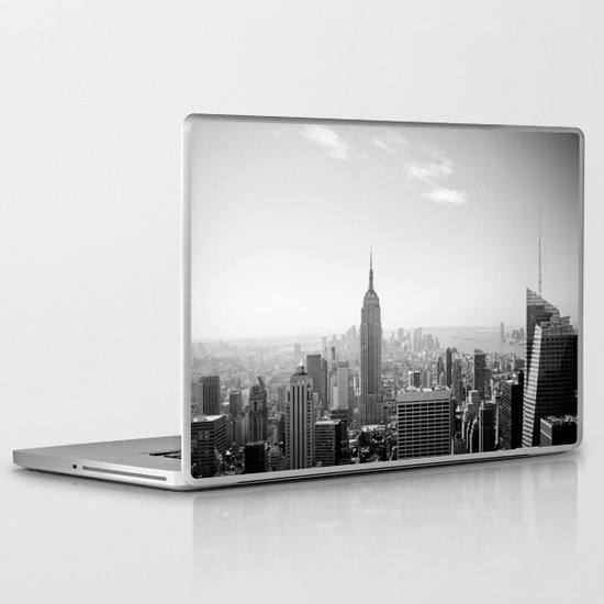 Manhattan - Empire State Building Panorama | B/W Laptop & iPad Skin