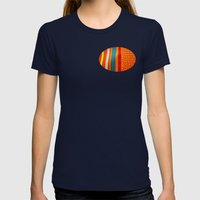 in woven color Womens Fitted Tee Navy SMALL