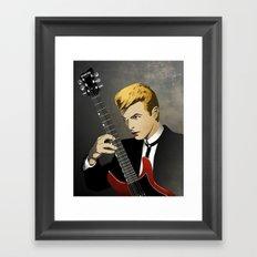 Bowie Portrait Framed Art Print