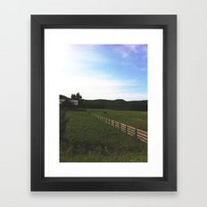 Farm horses Framed Art Print
