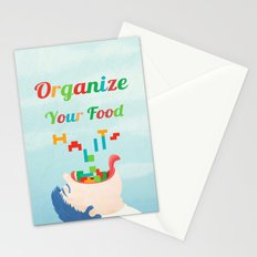 Organize Your Food Habits Stationery Cards