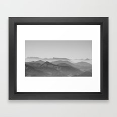 The amazing world of mountains Framed Art Print