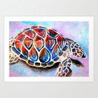 fire shell. Art Print