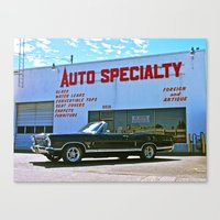 Canvas Print featuring Auto Specialty shop by Vorona Photography