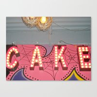 Cake ~ Pop Carnival Sign… Canvas Print