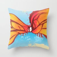 Digital Butterfly Throw Pillow