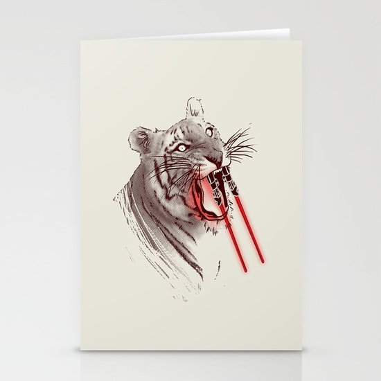 Light Saber Tooth Tiger Stationery Card