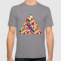 Aztec Geometric VII Mens Fitted Tee Tri-Grey SMALL