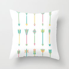 Pastel Arrows Throw Pillow