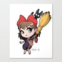 Chibi Kiki Canvas Print