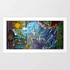 Hogwarts Stained Glass S… Art Print