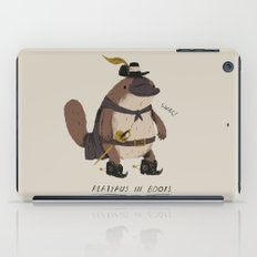 platypus in boots iPad Case