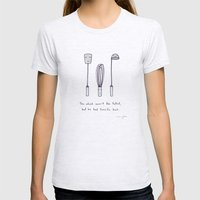 The Whisk Wasn't The Tal… Womens Fitted Tee Ash Grey SMALL