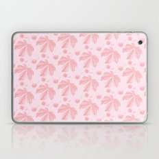 Horse Chestnut leaf and conker pale pink pattern Laptop & iPad Skin
