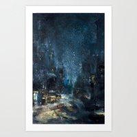 Snowstorm in Brooklyn Art Print