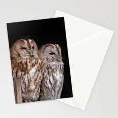Tawny Owls in Nature Stationery Cards