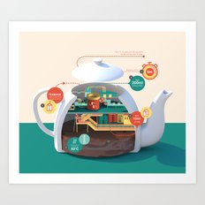 How to make the best pot of tea Art Print