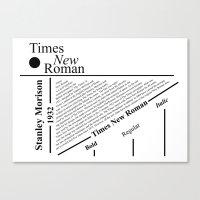 The Times New Roman Canvas Print