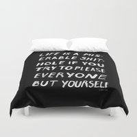 PLEASE Duvet Cover