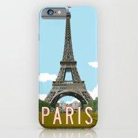 iPhone & iPod Case featuring Paris 2 Travel Poster by Michael Jon Watt