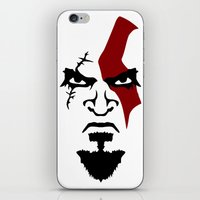Kratos Face iPhone & iPod Skin