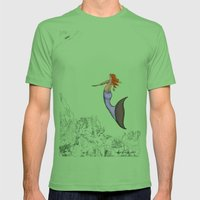The Golden Mermaid Mens Fitted Tee Grass SMALL