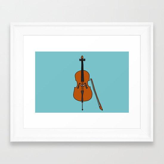 Cello Framed Art Print