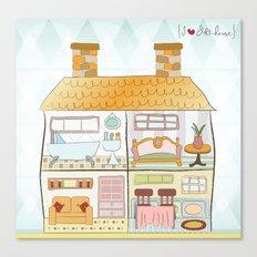 I {❤} Dollhouse Canvas Print