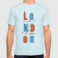 London Mens Fitted Tee Light Blue SMALL