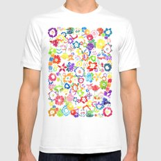 Bloom Mens Fitted Tee SMALL White