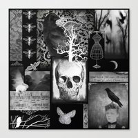 Crow And Lace Canvas Print