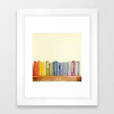Rainbow Library Framed Art Print