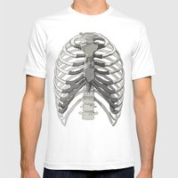 Vector Ribcage Mens Fitted Tee White SMALL