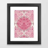 Happy Place Doodle In Be… Framed Art Print