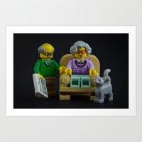 Chair Wars Art Print