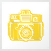 I Still Shoot Film Holga Logo - Sunshine Yellow Art Print