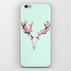 CHERRY BLOSSOM SKULL iPhone & iPod Skin