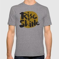 Rise & Shine Mens Fitted Tee Athletic Grey SMALL