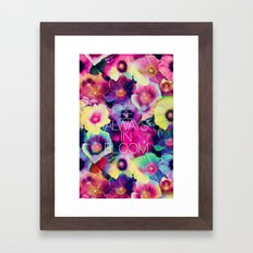 Be always in bloom Framed Art Print
