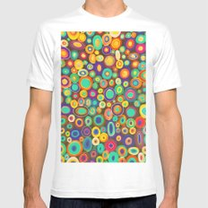 colorama White SMALL Mens Fitted Tee