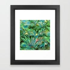tropical forest Framed Art Print