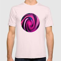 Pink Swirl Mens Fitted Tee Light Pink SMALL