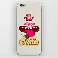 We All Scream For Ice Cream iPhone & iPod Skin