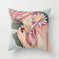 And She Loved Lillies Throw Pillow