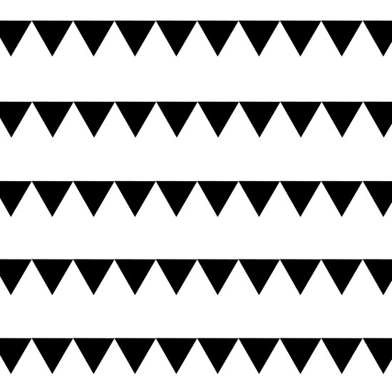 TRIANGLE BANNERS (Black) Art Print