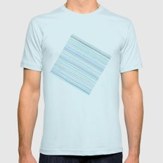 Pattern Mens Fitted Tee Light Blue SMALL