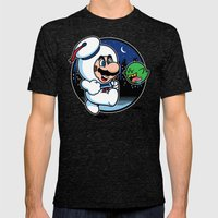 Super Marshmallow Bros. Mens Fitted Tee Tri-Black SMALL