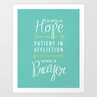 Romans 12:12 Art Print